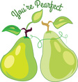 Youre Pearfect vector image vector image