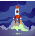Startup Rocket Launch vector image