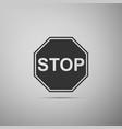 stop sign traffic regulatory warning stop symbol vector image