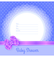 Card template for Baby Shower vector image