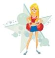 Cartoon cheer leader vector image
