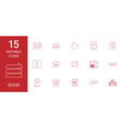 15 door icons vector image vector image