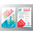 abstract typography polygon brochure flyer layout