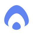 aura icon russian flat blue white logo vector image vector image