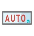 Automatic button vector image