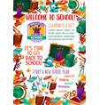 back to school supplies sale offer banner design