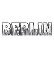 berlin city gradient 11 vector image