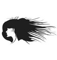 black woman hairstyle profile vector image vector image