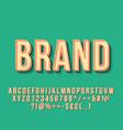 brand vintage 3d lettering vector image