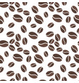 brown coffee beens seamless pattern vector image vector image