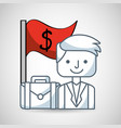 business person with social marketing icons vector image vector image
