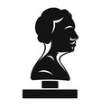 bust ancient writer icon simple style vector image