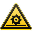 carefully cutting shafts occupational safety sign vector image