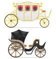 carriage for transportation of people vector image vector image