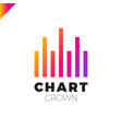 chart crown infographic rate chart or rate icon vector image vector image