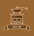 coffee shop logo design template vector image vector image