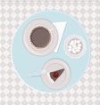coffee with dessert vector image vector image