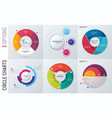 collection circle chart infographic vector image vector image