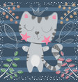 cute little princess - cat characters vector image vector image