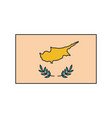 cyprus flag icon cartoon style vector image vector image