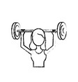 figure woman with dumbbell to do exercise vector image vector image