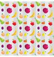 Fruitflat patt vector image vector image