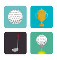 golf sport set icons emblem vector image