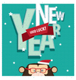 Good Luck New Year with monkey vector image vector image