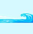 great beautiful wave at sea vector image vector image
