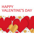 greeting card of valentine day with red gold vector image