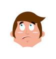guy surprised emoji boy astonished emotion vector image