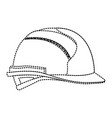 helmet side view monochrome dotted silhouette vector image