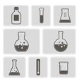 icons with containers for chemical goods vector image vector image