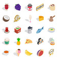 inebriety icons set isometric style vector image vector image