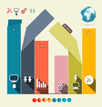 Infographics Template with Flat Design Abstract vector image