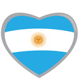 Isolated Argentinian flag vector image vector image