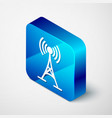 isometric antenna icon isolated on white vector image vector image