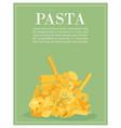 italian pasta macaroni spaghetti gomiti rigati vector image vector image