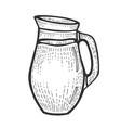 jug with milk sketch engraving vector image vector image