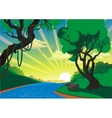 Landscape - the river in the vector image vector image