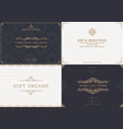 monogram creative cards template vector image vector image