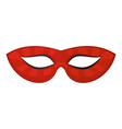 mystical mask icon flat style vector image vector image