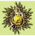 olive oil and olives vector image vector image