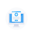 online medical service icon vector image vector image