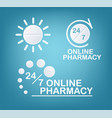 online pharmacy concepts vector image