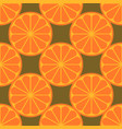 orange fruit seamless art white pattern background vector image