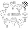 outline hot air balloons vector image vector image