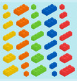 plastic blocks set vector image vector image