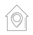 real estate location line icon vector image vector image