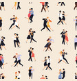 seamless pattern with people dancing argentine vector image vector image